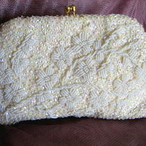 Pristine Hand Beaded Vintage 50s Evening Pursebridal Photo