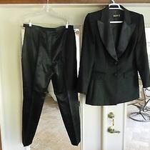 Pristine Women's Escada Cashmere / Silk Satin Tuxedo 1500 Orig Price Photo