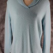 Prive 100% Soft Cashmere Aqua Blue Sweater Medium M Photo
