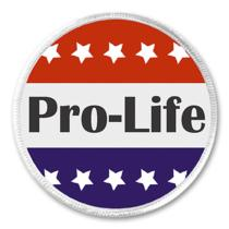 Pro-Life (Anti Abortion) Red White Blue Stars 3