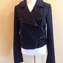 Proenza Schouler Black Motorcycle Jacket Size 6 Photo