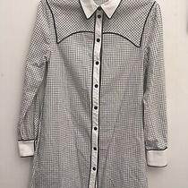 Proenza Schouler Classic Black & White Check Shirt Dress Cotton 4 Uk 10 Rrp 300 Photo