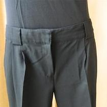 Proenza Schouler Dress Pants Black Ankle Length Smooth Wool 8 Photo