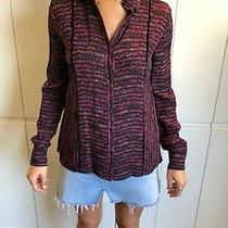 Proenza Schouler Red 100% Silk Button Up Shirt Size 2 Us Photo