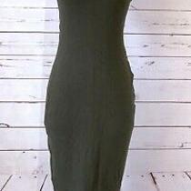 Proenza Schouler Size M Fitted Sleeveless Midi Length Tank Dress Olive Green Photo