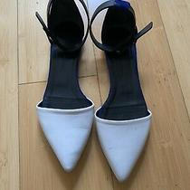 Proenza Schouler White Leather Pointed Flats 37 Photo
