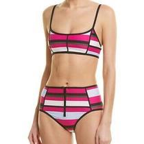 Proenza Schouler Women's 187624 Pink Sporty Bikini Set Swimwear Size S Photo