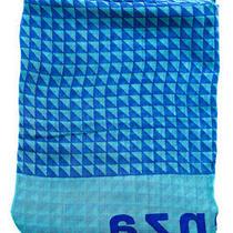 Proenza Schouler Womens Cashmere Geometric Triangle Motif Scarf Blue Photo