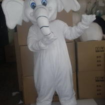 Professional New White Elephant Mascot Costume Fancy Dress Adult Size Photo