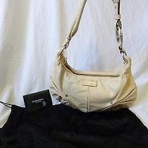 Professionally Authenticated Yves Saint Laurent Rive Gauche Ivory Leather Hobo Photo