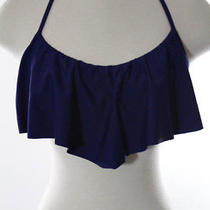 Profile Blush by Gottex Blue Ruffled Bikini Top Size S New With Tags Photo