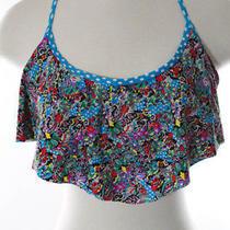 Profile Blush by Gottex Multi-Color Bikini Top Size S E New With Tags Photo
