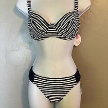 .profile Blush by Gottex Navy/white Striped Bikini Top or Bottomsz605-Nwt 7ku0 Photo