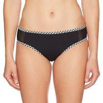 Profile Blush by Gottex Womens Swimwear Black Large L Mesh Bikini Bottom 48 715 Photo