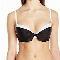 Profile Blush by Gottex Womens Swimwear Black White Medium M Bikini Top 78- 397 Photo