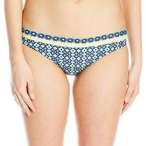 Profile Blush New Blue Printed Women's Medium M Bikini Bottom Swimwear 42 350 Photo