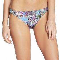 Profile Blush New Blue Women's Size Small S Paisley Bikini Bottom Swimwear 793 Photo