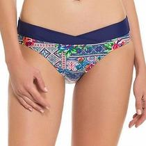 Profile Blush New Blue Women's Size Xl Bikini Bottom Printed Swimwear 998 Photo