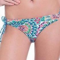 Profile Blush New Blue Women's Size Xl Floral Print Side-Tie Bikini Bottom 453 Photo