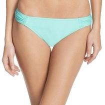 Profile Blush New Blue Women Size Xl Ruched Bikini Bottom Swimwear 44 078 Photo