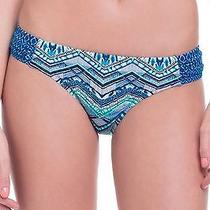 Profile Blush New Blue Women Small S Chevron Printed Swimwear Bikini Bottom 000 Photo