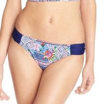 Profile Blush New Blue Womens Size Large L Floral Bikini Bottom Swimwear 44 049 Photo
