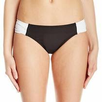 Profile Blush White Black Womens Size Medium M Bikini Bottom Swimwear 44 409 Photo