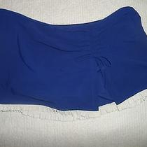 Profile by Gottex 'Black Tie' Skirted Swim Bottom Blue White Size 8-88 Photo