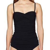 Profile by Gottex Black Women's Size 12 Tankini Top Twist Swimwear 88- 886 Photo
