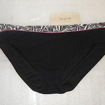 Profile by Gottex New Womens Black Bikini Bottom Size 12 Bathing Suit  Photo