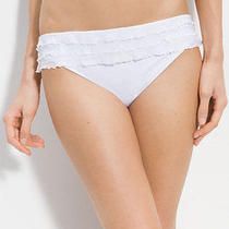 Profile by Gottex 'Samba Ruffle' Bikini Bottoms (Size 16) White Photo