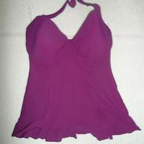 Profile by Gottex Starlet Tankini Top (D Cup) Violet Size 40 D-94 Photo