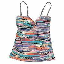 Profile by Gottex Women Blue Swimsuit Top 12 Photo
