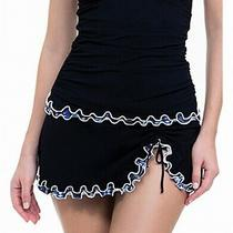 Profile by Gottex Women's Swimwear Black Size 8 Swimskirt Ruffled 86 472 Photo