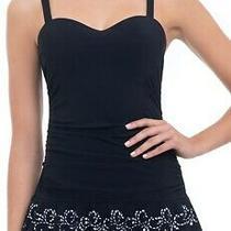 Profile by Gottex Women's Swimwear Black Size 8d Padding Swimdress 154 221 Photo