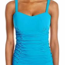 Profile by Gottex Women's Swimwear Blue Size 36 Tankini Top Sweetheart 98 653 Photo