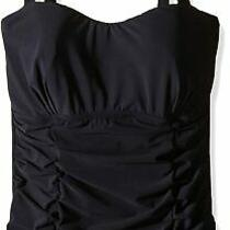 Profile by Gottex Womens Swimwear Black Size 34d Slimming Underwire 98- 975 Photo