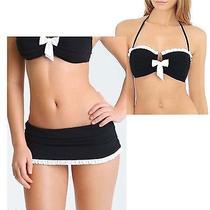 Profile Gottex Black Tie 2pc Set Skirted Bikini Sz 10 Swimsuit Womens 166 Nwt Photo