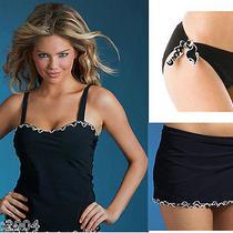 Profile Gottex Confetti Skirted Tankini Bikini 3pc Set 32d 6 Swimsuit Nwt 238 Photo