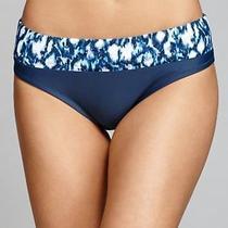 Profle Blush Nwt 77 M Bikini Bottoms Navy Blue Ikat Band by Gottex Photo