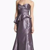 Prom Amsale Strapless  Dress Gown Size 10 Thistle  Purple Formal Bridesmaid Photo