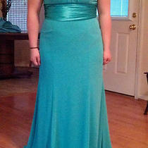 Prom Dress Bridesmaid Formal Gown Aqua Blue Color Sz 14 Photo