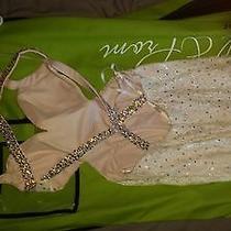 Prom Dress La Femme Fashion Size 4 Color White/blush   Photo