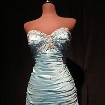 Prom Dress Mori Lee Aqua Blue New Photo