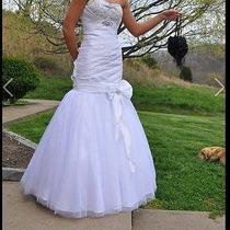 Prom Dress Prom Dresses Size 2 Tiffany White Mermaid Photo