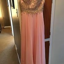 Prom Dress Size 1/2 Blush and Gold Sequence Top Photo