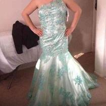 Prom Dress Size 12 Emerald Green Tiffany's Mermaid Prom Dress  Photo