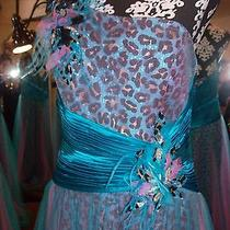 Prom Gown by Blush Prom One Shoulder Full Length sz.4 Sequin &tulle Photo