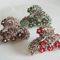 Prom Hairclaw With Swarovski Crystal Various Colours Photo