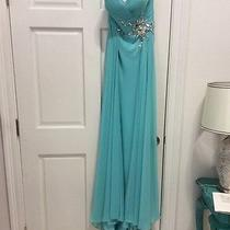 Prom or Oageant Dress From Blush Prom in Turqoise Size 8 Photo